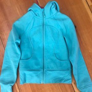 Turquoise lululemon scuba sweatshirt